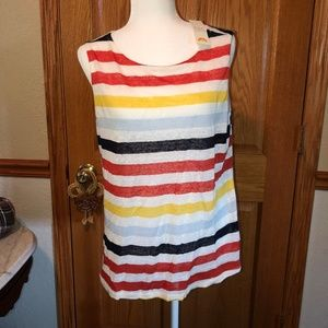 C & C California sz M Striped Fall Tank Top NWT
